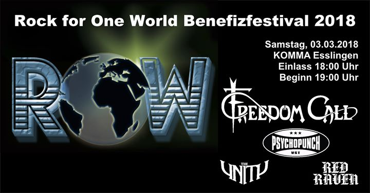 13. ROW - ROCK for One World Benefizfestival 2018